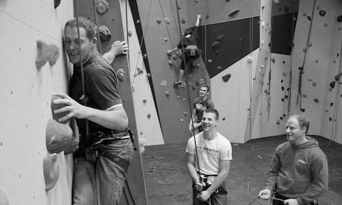 indoor climbing in redpoint climbing centre bristol