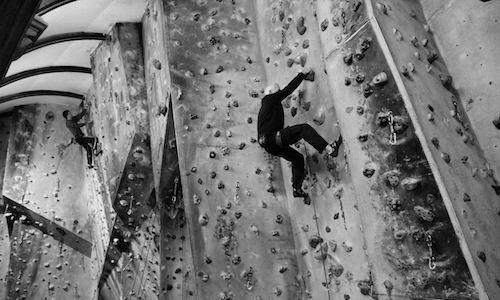 Climbing indoor at Bristol Climbing centre