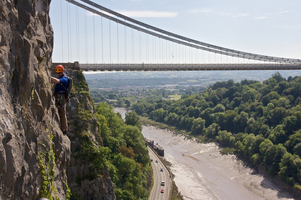 the outer Edge climbing in Bristol
