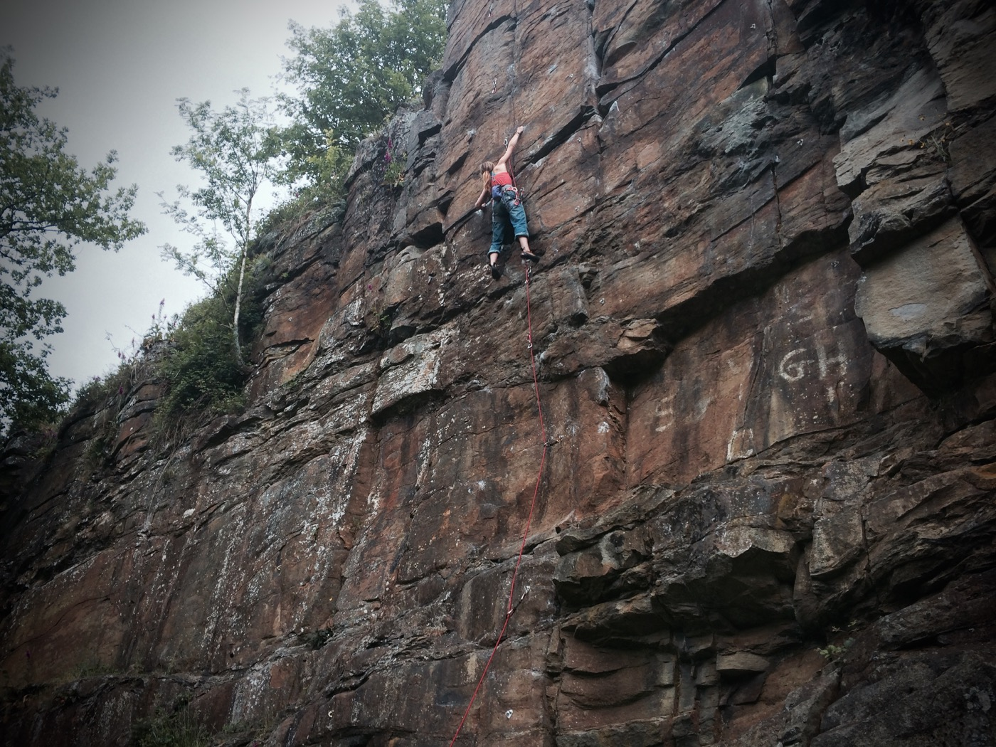 Georgia Townend Climbing at Terpentwys