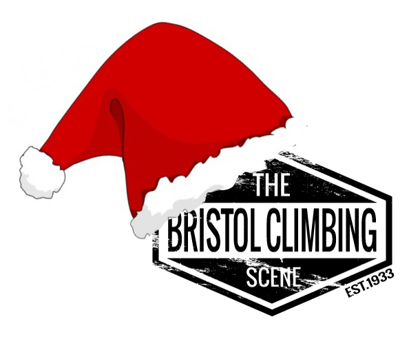 bristol climbing scene xmas party hat