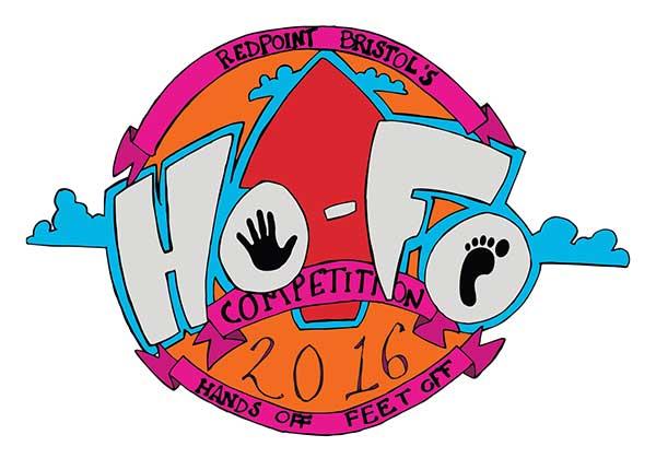 Redpoint indoor climbing centre HoFo event logo