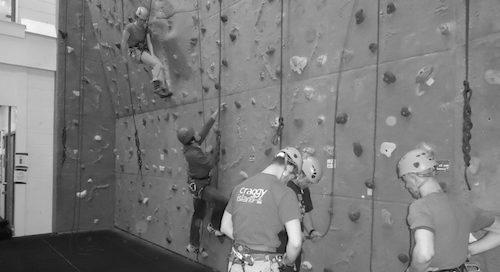 UWE climbing wall